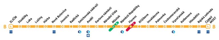 Linea B Metropolitana Praga