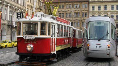 Bus e Tram a Praga