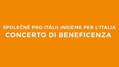 Concerto beneficenza a Praga terremoto centro Italia