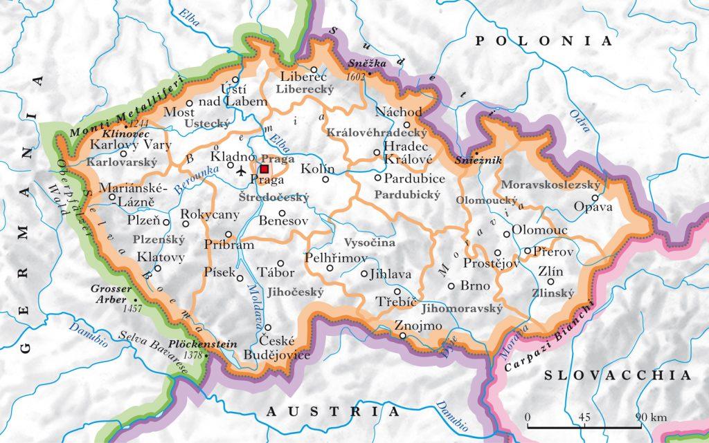 Fiume Elba Cartina Geografica.Praga Dove Si Trova Cercala Sulla Mappa Vivere In Cechia