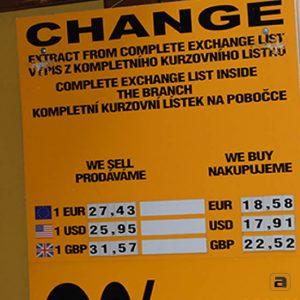 cambiare soldi a praga