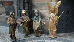 le figure del calendario orologio di Praga