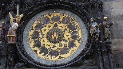 Orologio astronomico Praga: calendario